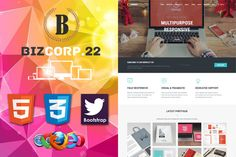 Biz Corp Premium HTML5 Template 22 by bizgenz on @creativework247