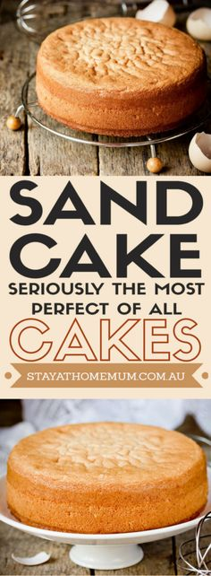 Sand Cake - Seriously the Most Perfect of All Cakes - Stay at Home Mum Easy Cake Recipes, Cupcake Recipes, Sweet Recipes, Baking Recipes, Cupcake Cakes, Dessert Recipes, Shoe Cakes, Cupcakes, Velvet Cake