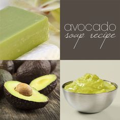 DIY avocado soap recipe (CP) — with avocado oil AND avocado puree
