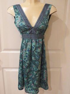 H&M Peacock Pattern Dress Size 2 new w/tags #HM