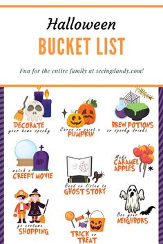 This Halloween bucket list is fun for the entire family! Get the DIY free printable and participate in these great fall activities! #diy #fall #halloween #halloweenideas #diy #freeprintable #printables #halloweenfun #bucketlist #familyfun #familyactivities Halloween Activities For Kids, Halloween Party Games, Halloween Season, Family Halloween, Halloween Costumes For Kids, Family Activities, Halloween Crafts, Halloween Bucket List, Halloween Buckets