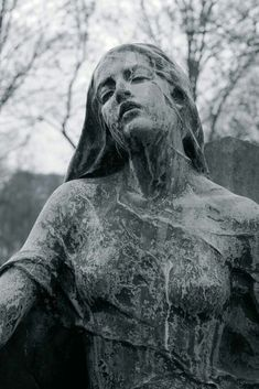 Without you, I'm falling down - Statue Photos Cemetery Statues, Cemetery Art, Gothic Aesthetic, Aesthetic Art, Statue Art, Renaissance Kunst, Arte Obscura, Dark Photography, Belle Photo