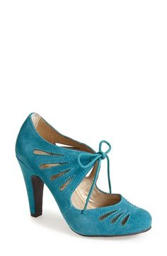 Seychelles 'Brave' Suede Pump (Women) at Nordstrom.com. Seychelles' signature vintage sophistication shines through on a striking suede lace-up pump embellished with alluring cutouts. via @joannahui