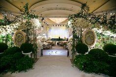 #wedding #entrance #white