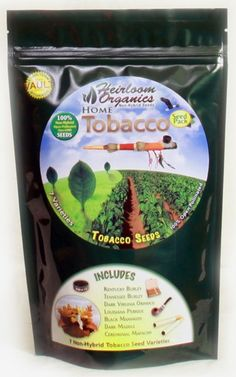 Tobacco Pack $59 - Tobacco Seeds - 7 Varieties - 100% Open Pollinated.