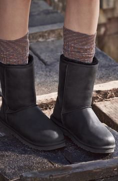 UGG® Australia Classic Short Leather Water Resistant Boot .