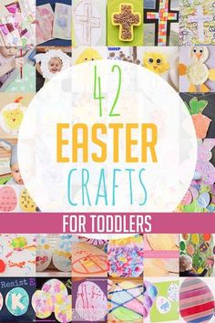 42 Easter crafts for toddlers to make - including Easter eggs, bunnies, sheep, chicks and crosses