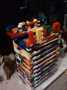Really cool lego games rack that I found