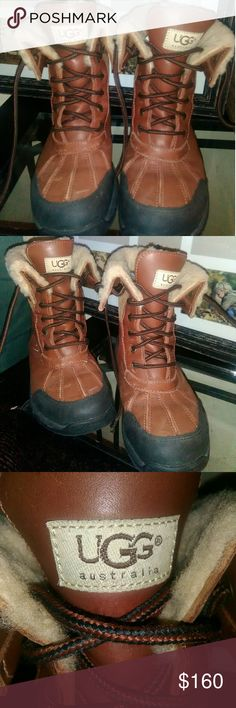 UGG BOOTS SIZE 6WOMEN UGG® VIBRAM BOOTS SIZE SIZE 6 IN WOMENS =size 4 in kids UGG Shoes Lace Up Boots