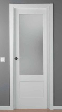 puerta lacada blanca mod. LAC-5102-1V Swinging Doors Kitchen, Glass Bathroom Door, Aluminium Doors, Interior, Door Design Interior, Glass Doors Interior, Bathroom Interior Design, House Interior, Doors Interior Modern