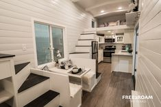 The Hekkert Hideaway: a beautifully designed 480-sq-ft tiny house, from Free 2 Roam Tiny Homes