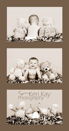 stuffed animal baby photo shoot