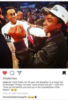 Ludacris instagram post about Caleb McLaughlin