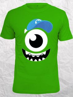 Monsters Inc art Mike Wazowski Best Seller on etsy Design Clothing for T shirt Mens and T shirt Ladies by Jamuran on Etsy, $16.99