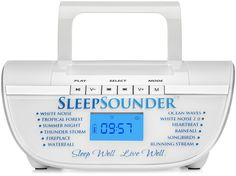 White Noise Machine for Sleep - The SleepSounder Plays 12 Relaxing Nature Sounds to Lull You Into a Deep, Restorative Sleep. 100% Lifetime Money-Back Guarantee.
