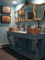 copper pots as sinks  #eco #design