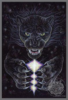 Black Jaguar Universal Rage Print
