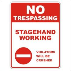 Stagehand Working