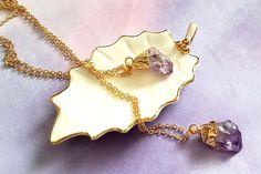 amethyst pendant amethyst gemstone necklace purple amethyst