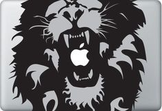 Macbook Decal Mac book Stickers Macbook Decals Apple Decal for Macbook Pro / Macbook Air / iPad / iPad2 / New ipad / iPhone 4 / iPhone 3. $6.50, via Etsy.
