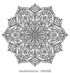 Mandala Ausmalbilder Zum Drucken Henna Candle