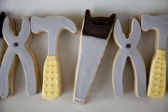 Tool Cookies from a Construction Party #constructionparty #toolcookies