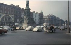 Dublin, street scene near O'Connell Monument :: Cities Around The World Dublin Street, Dublin City, Old Pictures, Old Photos, Photo Engraving, University Of Wisconsin, Travel Info, Dublin Ireland, Screen Shot