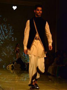 Indian Groom Wear - Dhoti | WedMeGood #wedmegood
