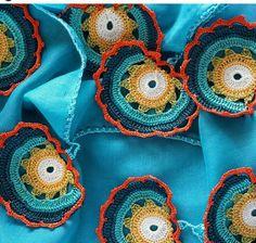 Crochet Motif, Crochet Shawl, Crochet Flowers, Crochet Stitches, Knit Crochet, Crochet Patterns, Knitting Projects, Crochet Projects, Crochet Decoration