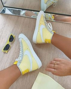 Buy Nike Blazer 77 trainers in yellow at ASOS. Dr Shoes, Hype Shoes, Me Too Shoes, Mode Converse, Souliers Nike, Sneaker Store, Nike Air Force 1, Cute Sneakers, Sneakers Nike