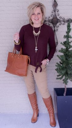 50 IS NOT OLD | COZY AND RELAXED | Casual | Tie-Front | Sweater and Jeans | Fashion over 40 for the everyday woman