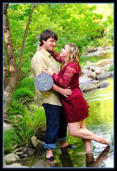Maternity/Birth Announcement. Couple in river.  Arcadia, VA. Botetourt, VA.  Roanoke www.johnpellicanphotographer.com www.johnpellicanphotographer.blogspot.com