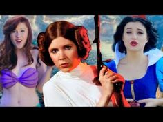 Disney Princesses welcome Princess Leia. This song is stuck in my head just like any 'real' Disney song. I still think they got out of character with Leia. She would SO not stand for letting her prince save her.