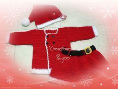 Temporada de dar amor <3 Yuyoo Creaciones!!  Traje para bebé Santa Clos.