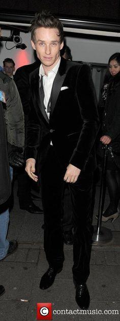 Eddie Redmayne leaving Harvey Weinstein's Orange British Academy...