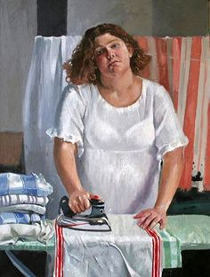 ALLWORTHY Dorian « Mary Swoford at,the Ironing Board ~ I'm guessing she's not entirely loving this chore :)