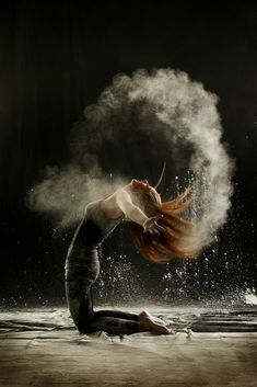 Explosions of Powder Echo Dancers' Powerful Movements