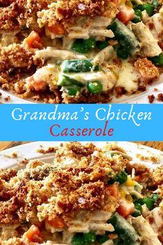 Grandma's Chicken Casserole #Grandma's #Chicken #Casserole