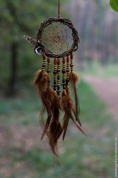 "Hunters handmade dreams.  Dream Catcher ""Forest"".  MariMagsha (Maria).  Online Store Fair Masters.  Dreamcatcher"