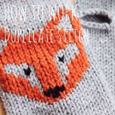 """SHOWS HOW TO stitch in the red yarn after the """"stockinet is done"""" Knitting Tutorial: How to Work Duplicate Stitches http://www.jessicabiscoe.co.uk/archives/knitting-tutorial-work-duplicate-stitch"""