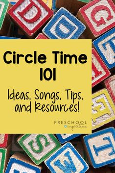 Circle Time 101 – Preschool Inspirations Preschool circle time tips and tricks from a veteran teacher! Find circle time ideas, activities, songs, and more to make your circle time a success! Preschool Movement Activities, Special Education Activities, Preschool Songs, Kindergarten Activities, Preschool Alphabet, Preschool Teachers, Childcare Activities, Alphabet Activities, Kindergarten Circle Time