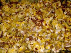 """Loaded Cheesy Potatoes! """"Love at first bite! Lol!""""  @allthecooks #recipe #potatoes #side #casserole #potato #dinner"""
