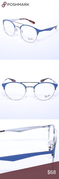 9eeb219dce Ray-Ban RB 3545V 2911 Matte Blue Gunmetal 51mm RX Ray Ban RB 3545V 2911  Matte Blue Gunmetal 51mm RX Eyeglasses Brand New 100% Authentic Comes with  Generic ...