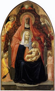 Virgin and Child with Saint Anne. Masaccio, c.1424