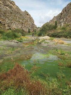 El Estrecho de La Boca de Oria, en el centro de la Sierra de Las Estancias-Oria (Almería) - España