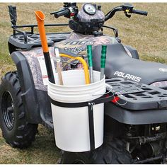 Sportsman's Guide has your ATV Single Bucket Holder available at a great price in our Racks & Bags collection 4 Wheeler Accessories, Atv Accessories, Accessoires Quad, Atv Racks, Atv Attachments, Quad Bike, Atv Quad, Atv Trailers, Timberwolf