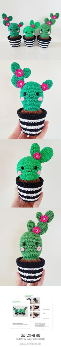 Cactus Friends amigurumi pattern