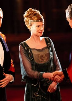 Zoe Boyle as Lavinia Swire in Downton Abbey (2011).