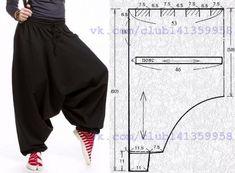 Теплые штаны 'алладины'. Выкройка на 44-46 размеры // irina fedorova