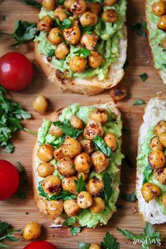 Avocado Toast with Spicy Chickpeas - SANDRA'S EASY COOKING
